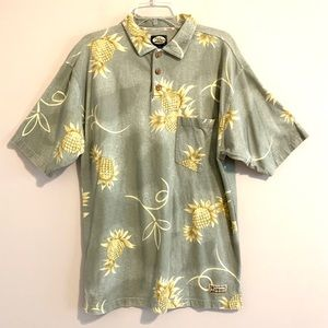 Tommy Bahama Green Graphic Polo Shirt w/Pineapples